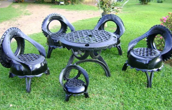 DIY furniture from tires