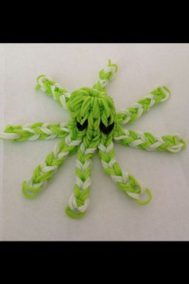 octopus green with white from rubber