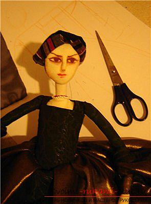 How to sew an interior doll from a fabric