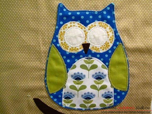 Sewing the pillow-owl with your own hands. Photo number 12