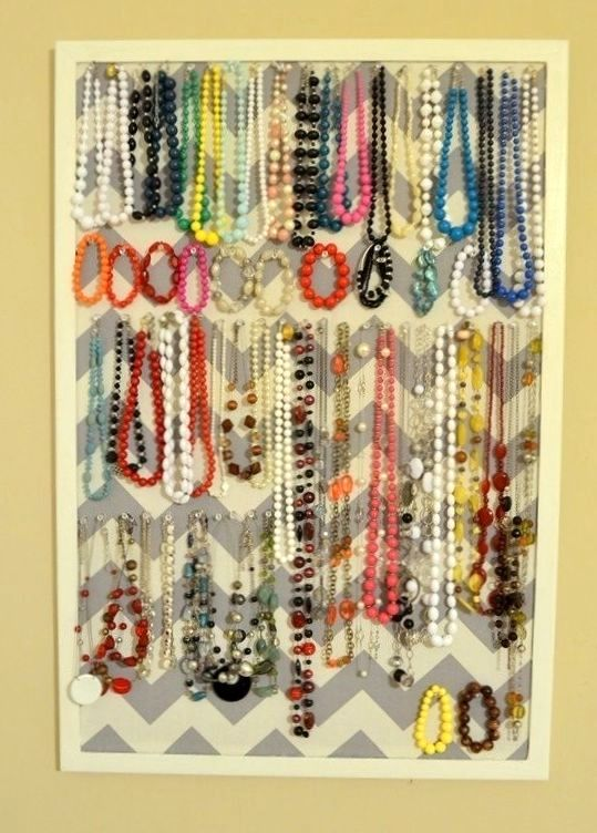 storage of adornments on the bulletin board