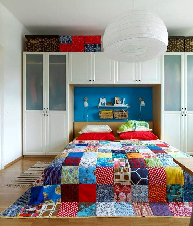 Patchwork patchwork in the bedroom