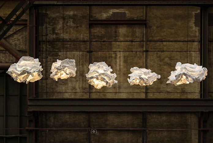 Luminaires in the form of clouds margje teeuwen erwin-zwier