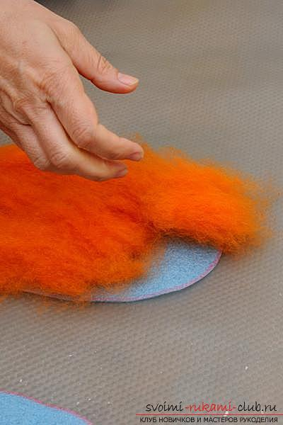 How to create your own comfortable slippers by felting. Picture №3