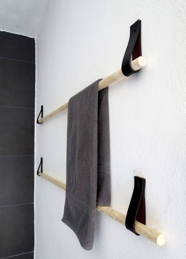 towel holder with own hands
