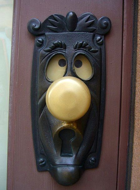 door handle in the form of a fairy-tale character