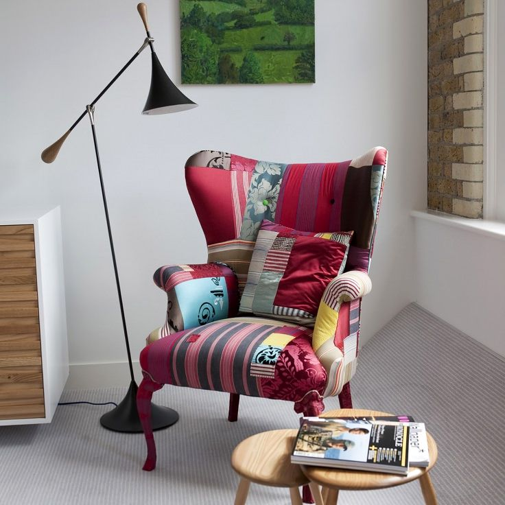Armchair in the style of quilting
