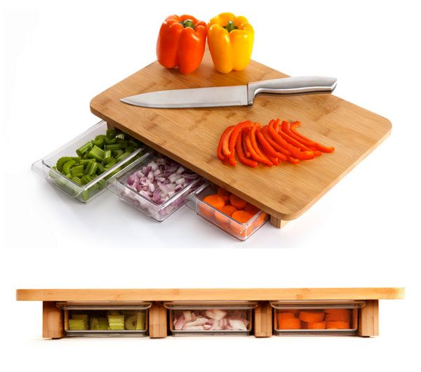 kitchen board with a cleaning tray