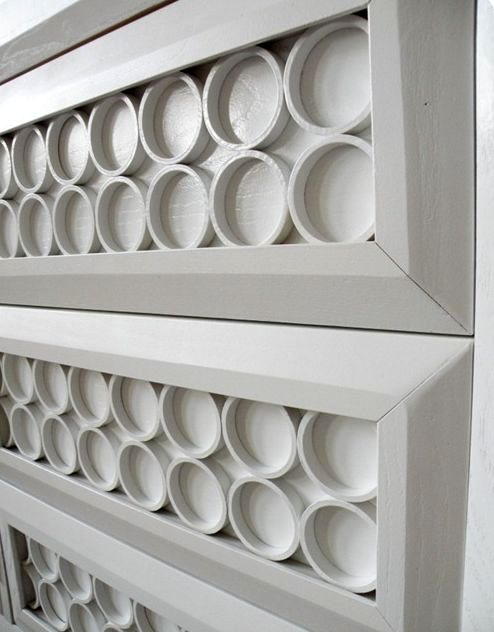 Furniture decor from plastic pipes
