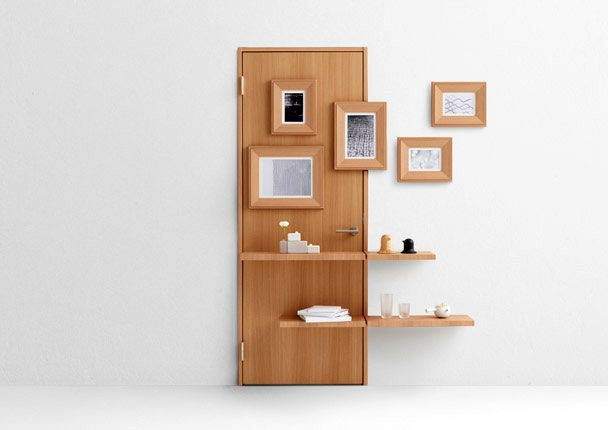 multifunctional creative doors Nendo Wall