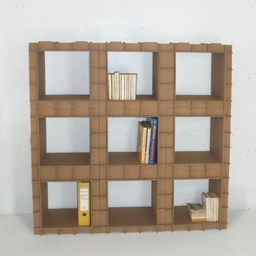 Modular shelving unit with own hands