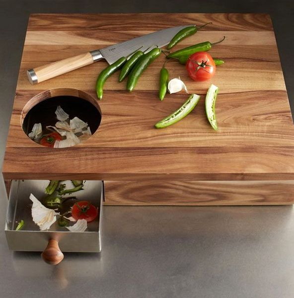 cutting boards with a hole for cleaning