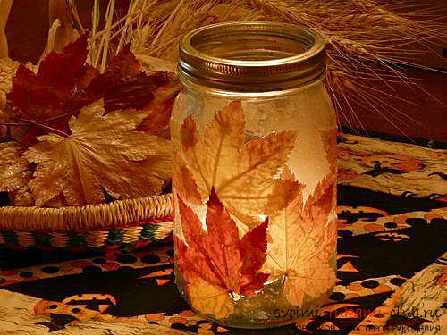 Autumn crafts with your own hands from the leaves. Photo №1