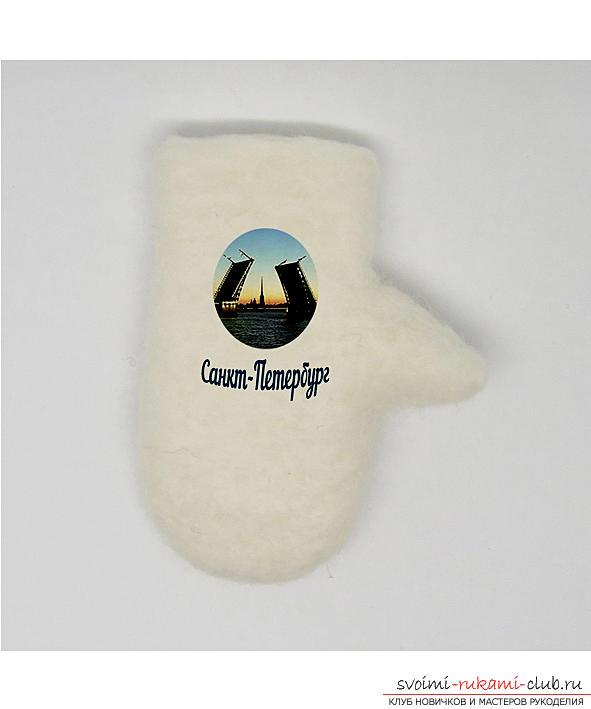 Как да направите оригинален сувенир от филцова вълна като подарък за турист или близък човек. Снимка номер 9