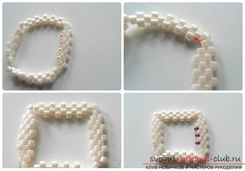 How to weave from beads, lessons with step-by-step photo creation of beautiful bracelets for beginners, tips and instructions for beading. Picture №3