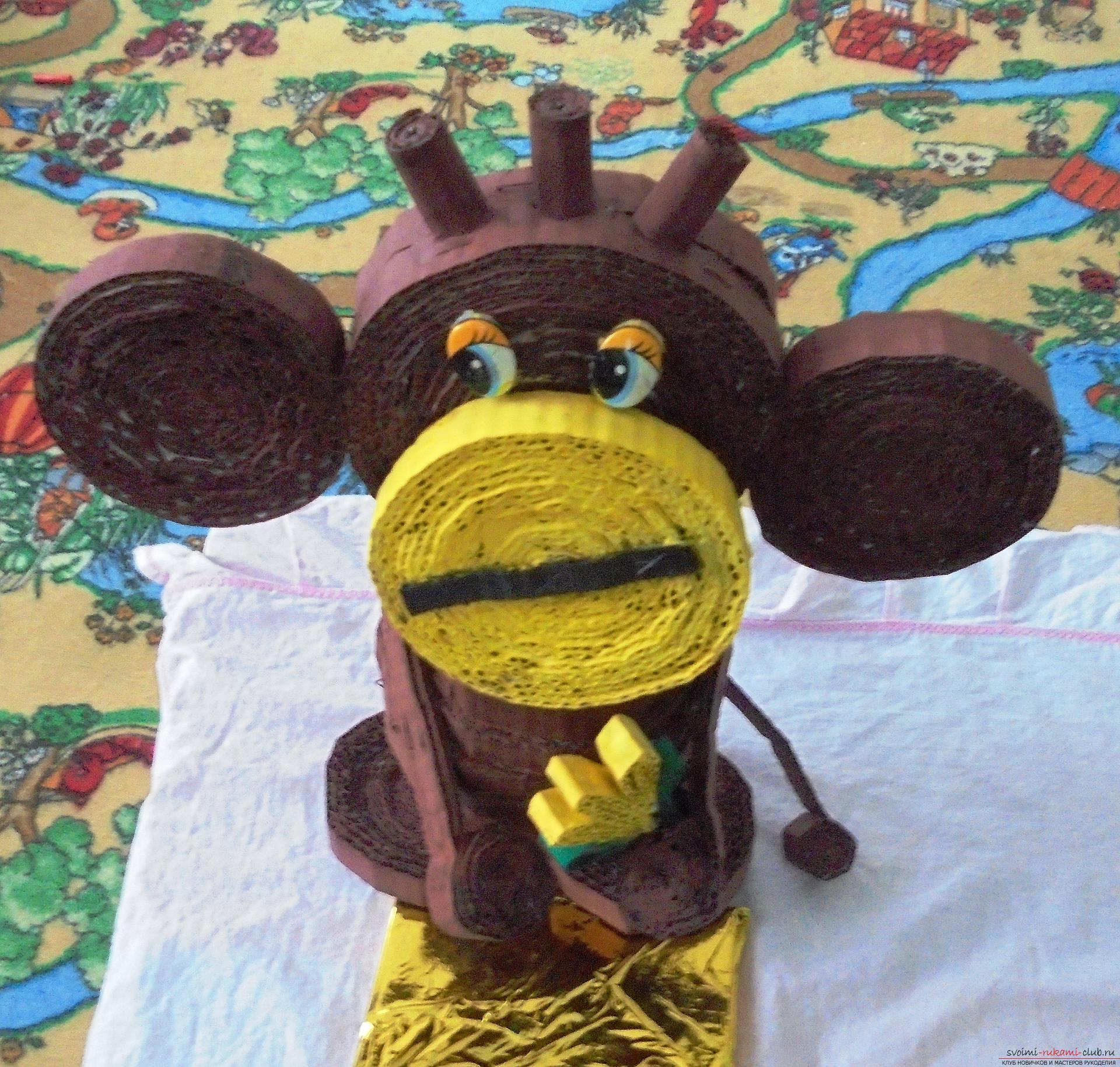 Competition for the best New Year's craft made us make an unusual monkey - a symbol of 2016. Photo number 1