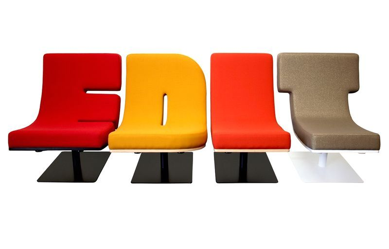 furniture in the form of letters