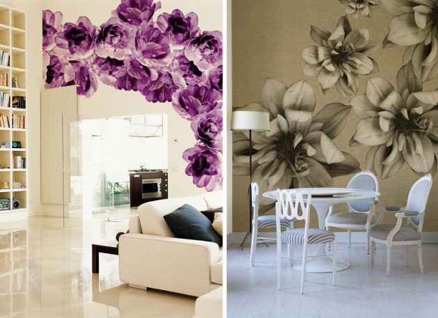 floral motifs, vinyl wallpapers Wall & Deco