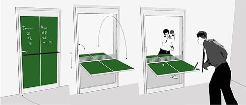 creative doors - ping-pong table
