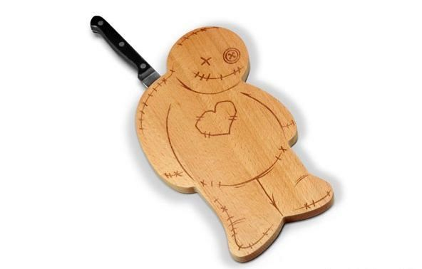 original cutting boards in the form of a man with a knife