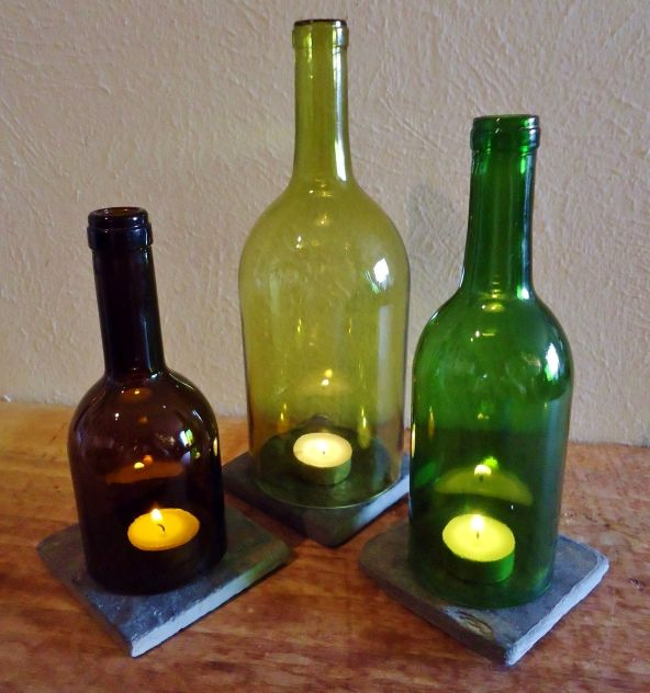 candlesticks from a bottle