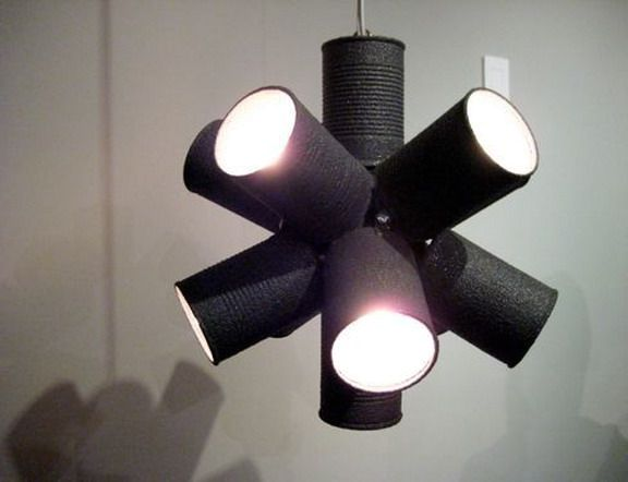 luminaire made of tin cans