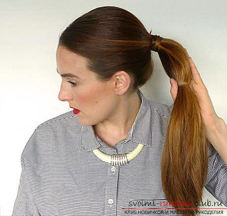 Master classes on creating hair styles for hair of medium length with their own hands. Photo Number 18