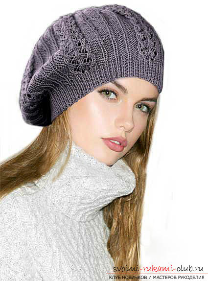 How to tie a hat, knitting hats with knitting needles, patterns and patterns for hats, patterns for knitted hats, detailed descriptions, diagrams, photo examples, recommendations .. Photo # 8