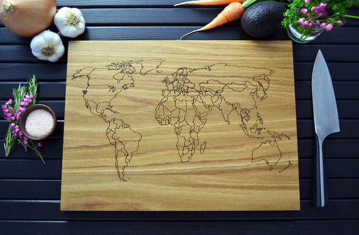 wooden cutting boards with burning
