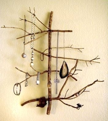 wall organizer for decoration with your own hands from a branch