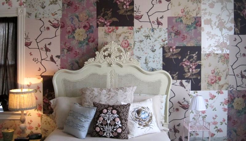 Wallpaper in patchwork style in the interior