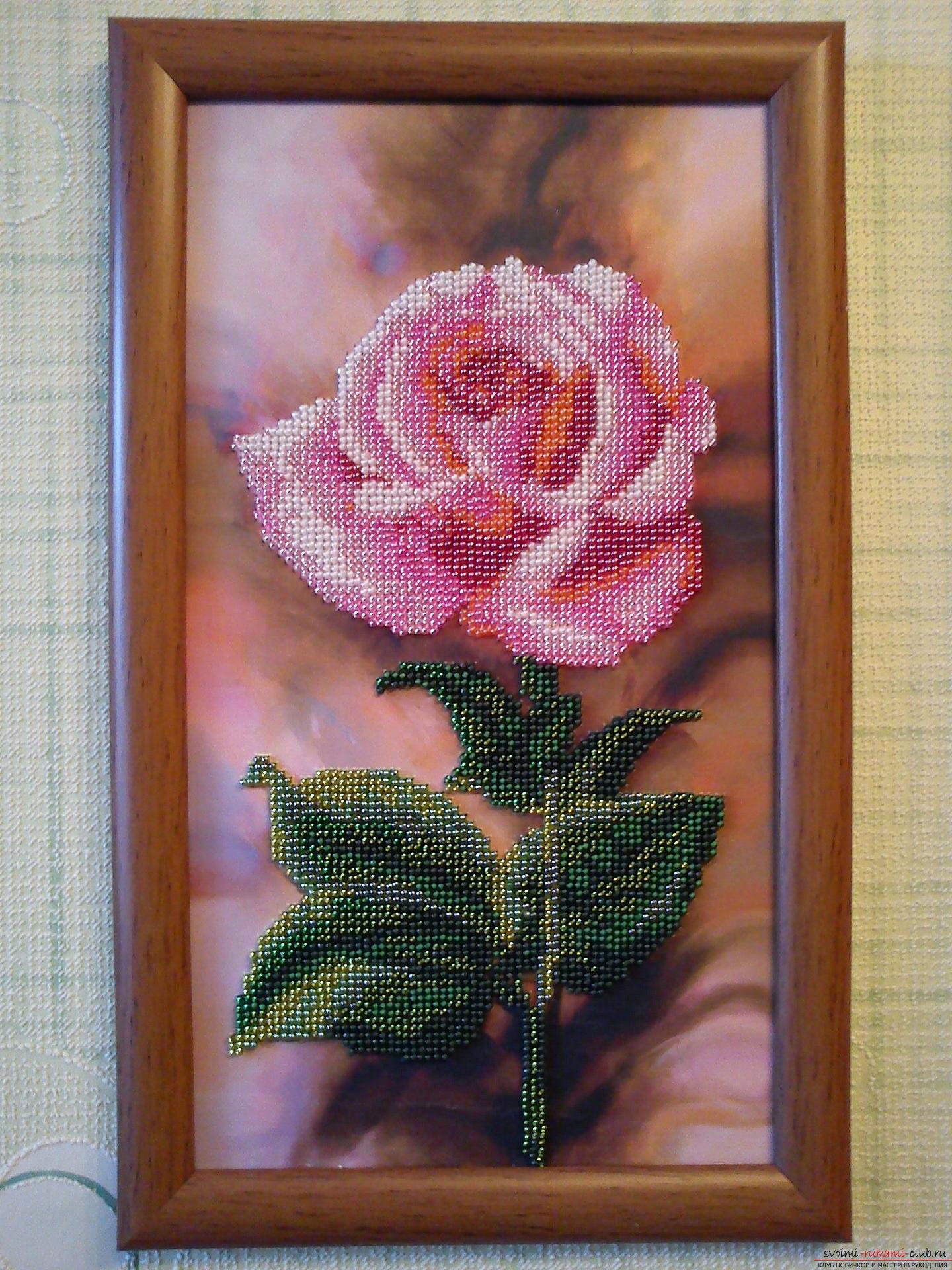 How to embroider pictures with beads. Photo №4