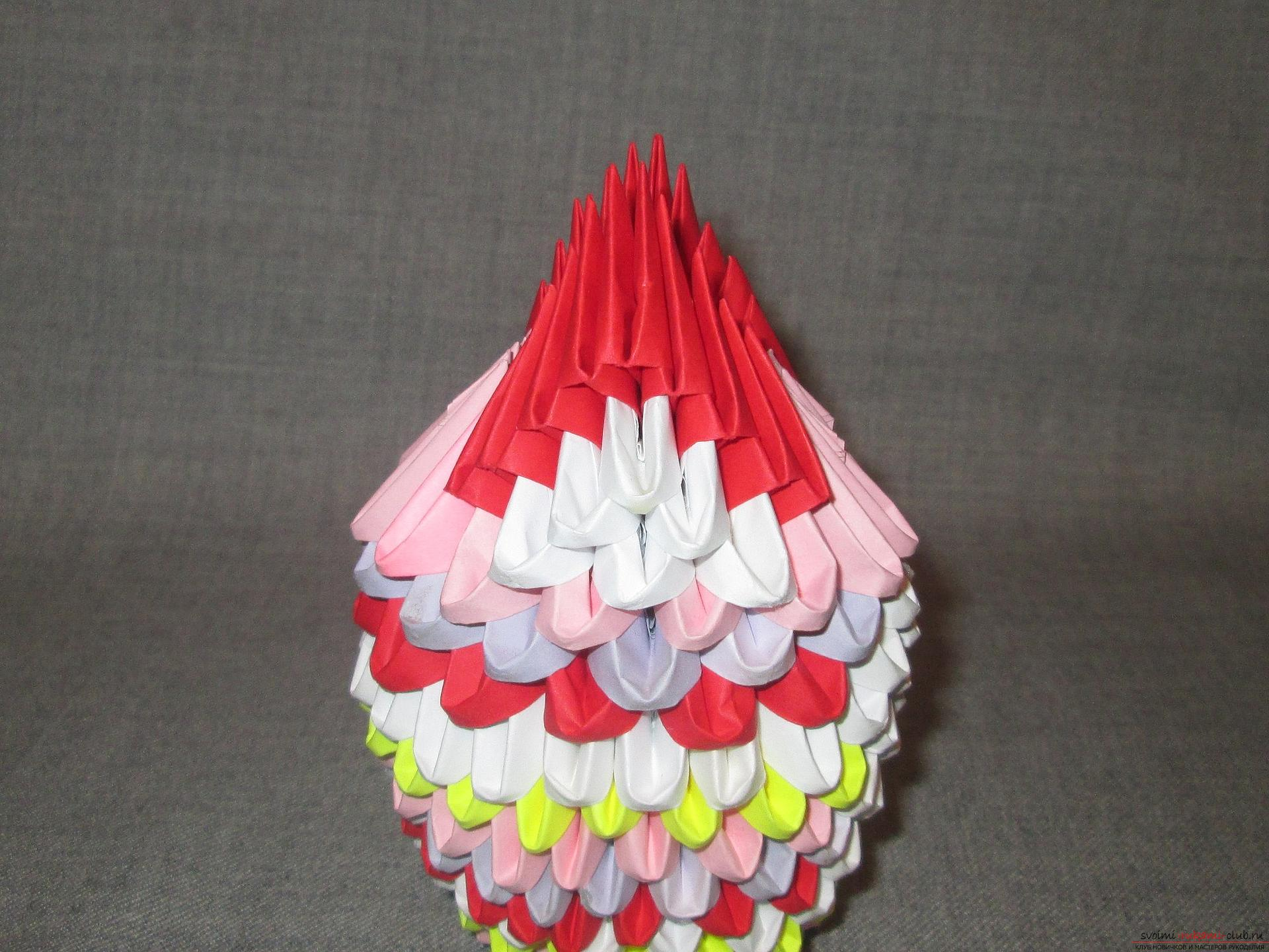 If you want to learn how to make modular origami, take a look at our master class. Photo # 26