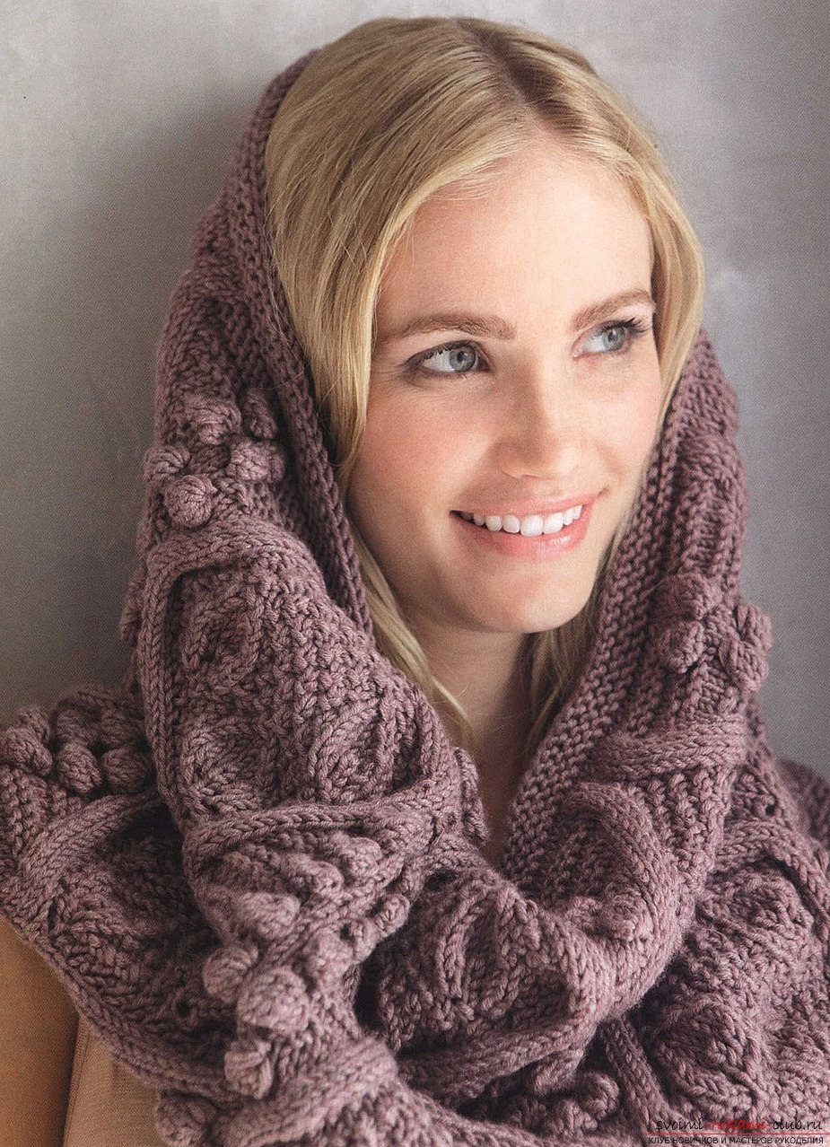 knitted knitted scarf for women. Photo №1