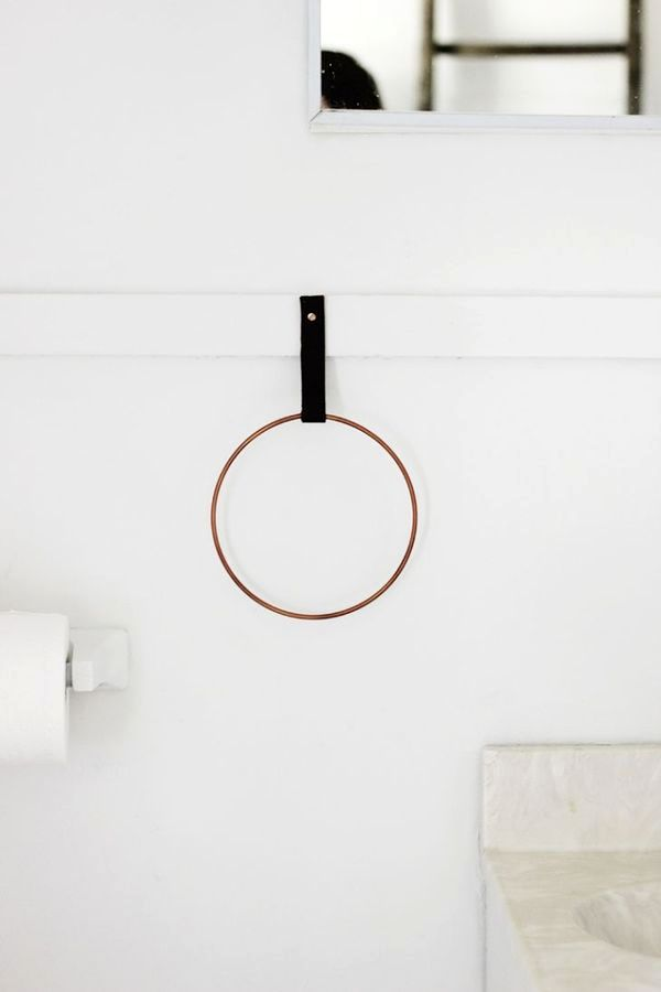 the holder for towels in the form of a ring