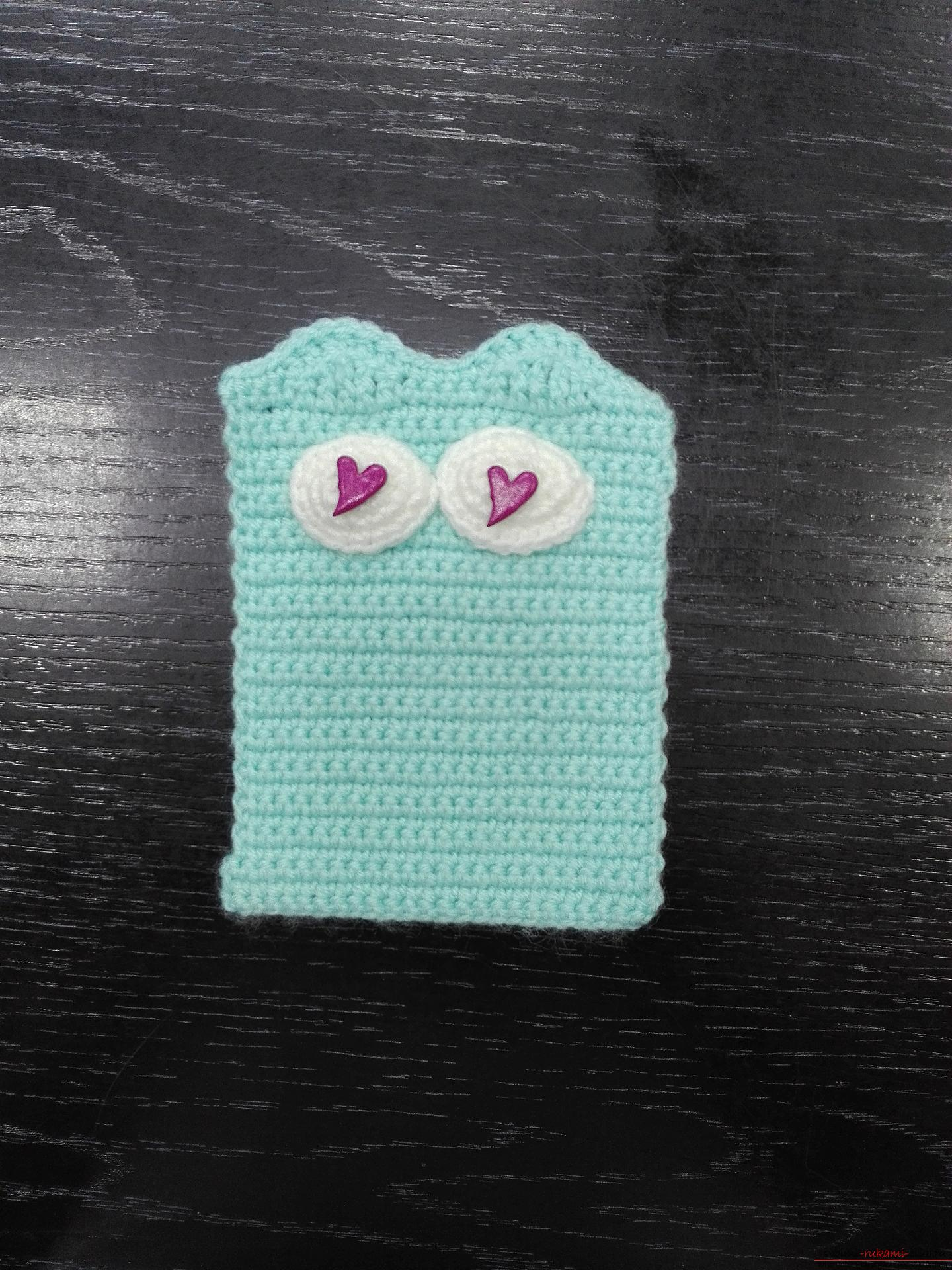 This master class will teach how to create a toy-pendant knitted cat. Photo №8