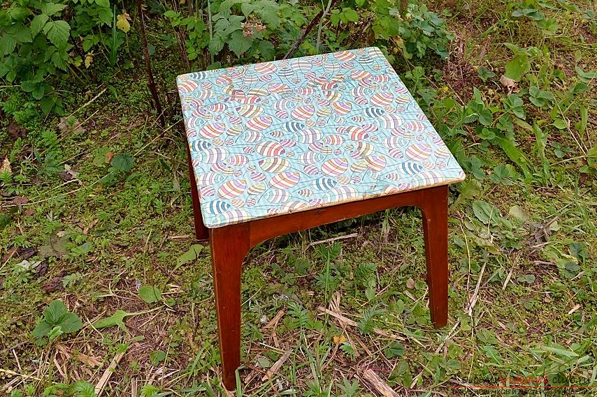 This master class with photo and description will show the technique of decoupage of country furniture - stools .. Photo №15