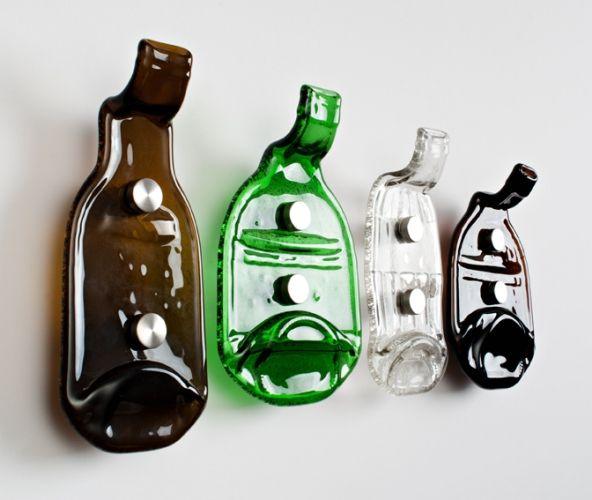 гачки для одягу зі скляних пляшок