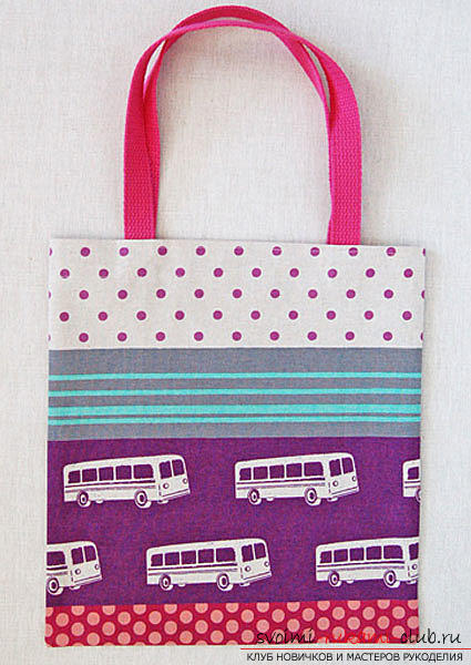Sewing a simple shopping bag. Photo №8