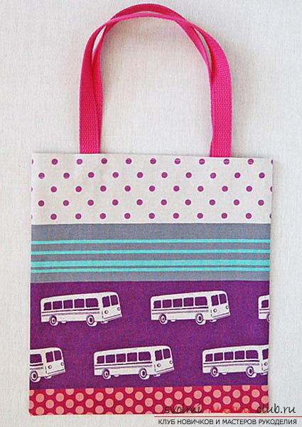 Шиене на проста чанта за пазаруване. Снимка №8