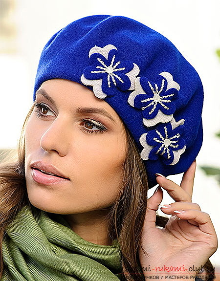 How to sew on your own pattern stylish, warm beret. The advice of professional craftsmen will help you. Photo №1