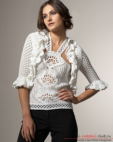 Crocheted clothes made by own hands. Pictures of delicate apparel .. Picture №1