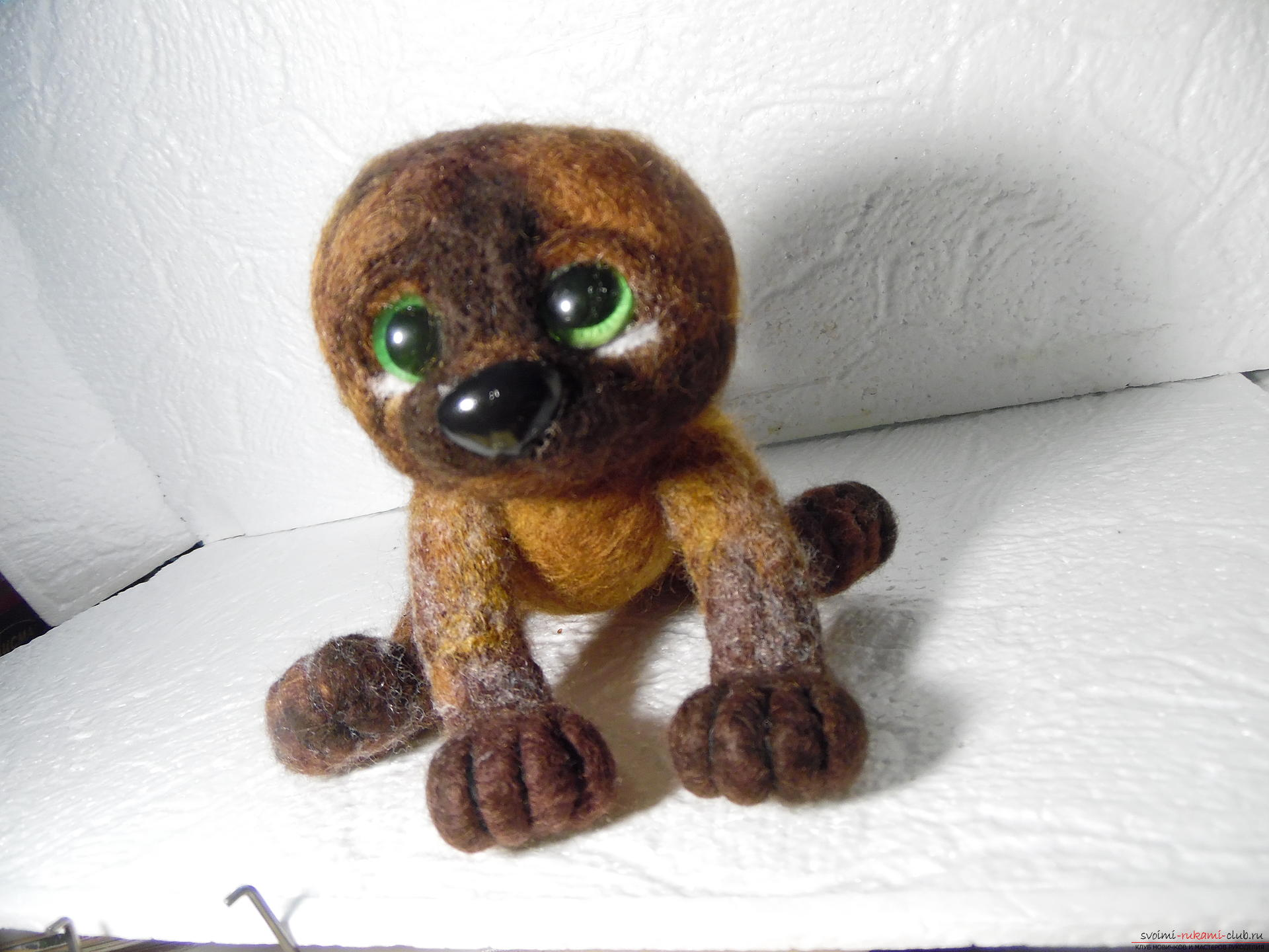 Felted toy kitten. Photo Number 11