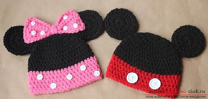 Crochet of beautiful plaids and hats for children up to one year old with diagrams, descriptions and photos .. Photo №13