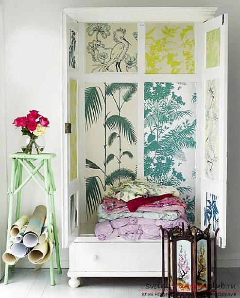 Decor furniture, cabinet decor, how to decorate a closet with your own hands, photo, various decor options .. Photo # 4