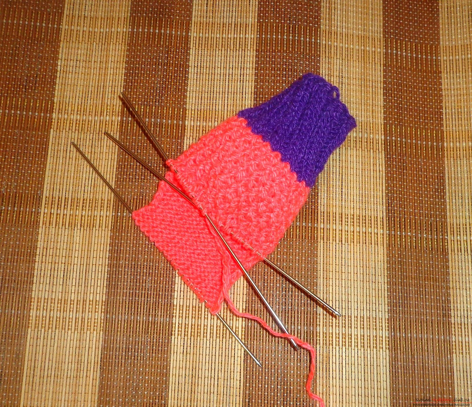 Photo to knitting lessons on knitting needles