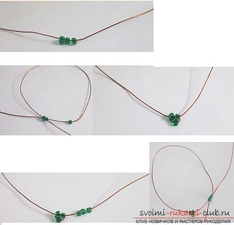 How to make a lilac branch of beads, step-by-step photos and a description of several weaving techniques for beaded floristics. Photo number 16
