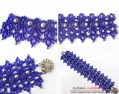 Free master class on weaving bracelets from beads with step-by-step photos .. Photo # 11