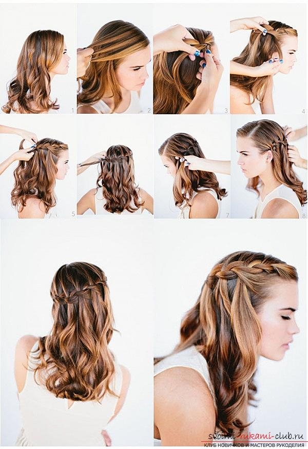 Lessons on the execution of fashionable in 2016 hairstyles on medium hair with their own hands. Photo №6