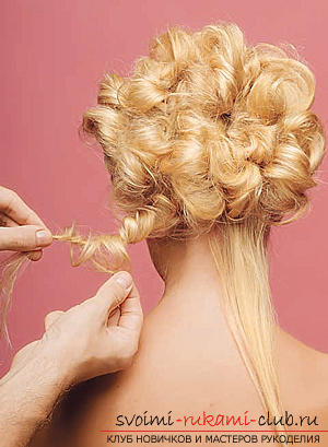 How to make an interesting wedding hairstyle for medium hair with your own hands. Picture №33